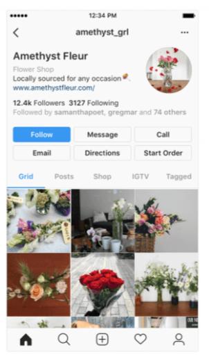 negócios no Instagram - projetual