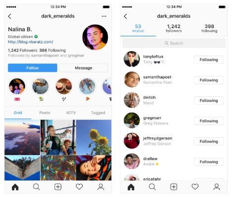 Mudanças no comércio no Instagram