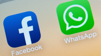 facebook e whatsapp - blog projetual